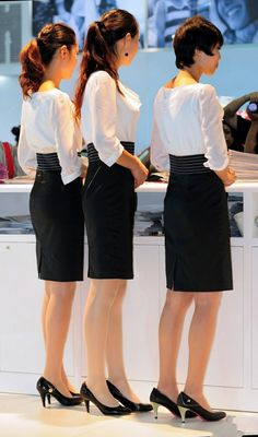 Cool Tights, Tight Suit, Military Women, Pantyhose Legs, Sexy Shorts, Professional Women, Dress For Success, Office Ladies, Beautiful Asian Women