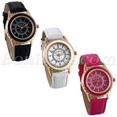 4c7878dd725 Women s Fashion Arabic Numberals Dial Leather Strap Analog Quartz Wrist  Watch  Unbranded  Casual Quartz