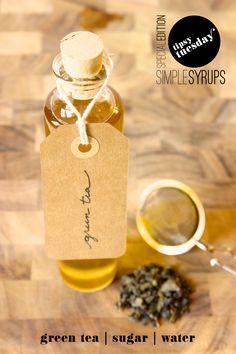 Fabric Paper Glue | Vodka Martini w/ Green Tea Simple Syrup