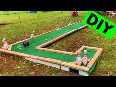 Outdoor Games, Outdoor Play, Outdoor Ideas, Outdoor Mini Golf, Indoor Miniature Golf, Putt Putt Golf, Woodworking Projects For Kids, Diy Projects, Rv Parks And Campgrounds