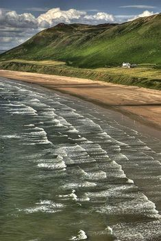 The beach at Rhossili Bay (NT) Gower Peninsula, South Wales Shared by Motorcycle Fairings - Motocc Rhossili Bay, Swansea Bay, Cornwall, Gower Peninsula, South Wales, Wales Uk, Uk Beaches, Cardiff Wales, Brecon Beacons