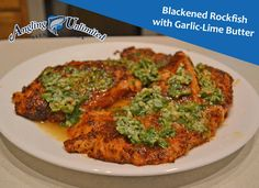 This week's recipe is a spicy blackened rub paired with the easy the fry rockfish. Enjoy the Blackened Rockfish with Garlic-Lime Butter!