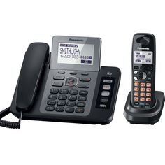 Panasonic KX-TG9471B 2-Line Corded/Cordless Phone with Digital Answering System and Contact Sync wit