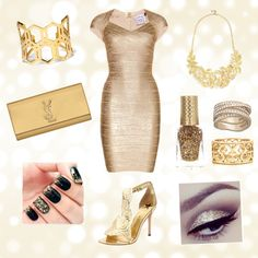 """Gorgeous in Gold"" by louiselulle4 on Polyvore!"