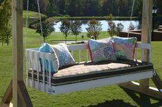 Decorative Wood Porch Swings for Home Page : Wood Porch Swings With Bearings