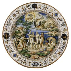 Maiolica dish with The Judgment of Paris, after Raphael, c. 1565-1575. | Copyright © 1998-2011 The Frick Collection