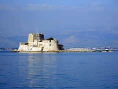 #Bourtzi The Venetian fortress guarding the entrance to the port of Napflio, Peloponnese - Greece