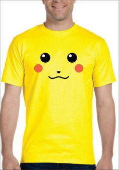 Inspired by Pikachu pokemon face T-shirt Men's Women's kids