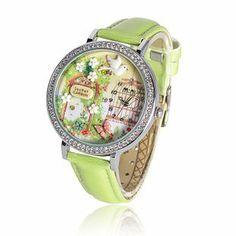 Mini Korea style Princess Women's Teen Girl kids Green Leather Watch bands waterproof wonderful GIFT Mini. $26.99
