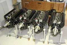 4x Airworthy Rolls Royce Merlin engines, destined for Lancaster NX611.