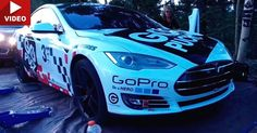 Tesla Model S Shatters Production Electric Vehicle Record At Pikes Peak [w/Video] #Electric_Vehicles #Pikes_Peak