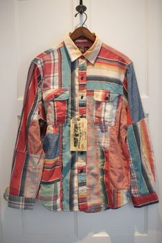 RRL LIMITED PATCHWORK FLANNEL SHIRTS - FOOBER ONLINE STORE