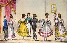 Regency-era evening wear  (From living read girl: An invite to Jane Austen's birthday dance party)