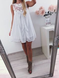 4f6b71169e8e5 White summer dress airy decorative lace S 36 - vinted.co.uk Trends 2018