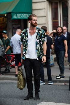 A new take on the Hawaiian shirt for men