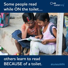 Proper sanitation allows girls to attend school with confidence.