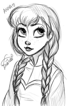 Drawing Anna from Frozen elisebrave.tumblr.com