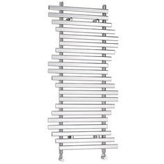 Ripple designer radiator 1200H x 600W in Chrome with an output of 1137 Btu/hr.