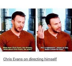 Chris Evans on directing himself