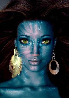 Alien Halloween Makeup, Theme Halloween, Maquillage Halloween, Halloween Cosplay, Halloween Make Up, Avatar Halloween, Avatar Costumes, Avatar Cosplay, Movie Makeup