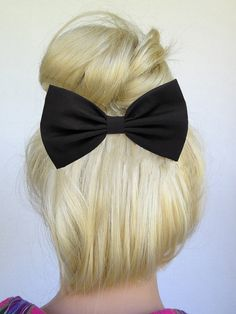 Black hair bow so super cute by Juicy Bows click on the pic to see more bows