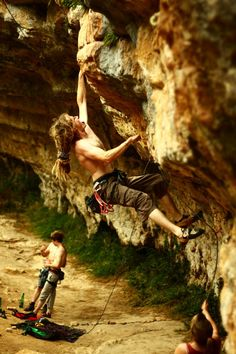 Climbers and dreadlocks - quite a common combination.