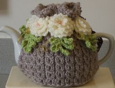 beige shabby chic large 6 cup tea cosy hand by peerietreisures
