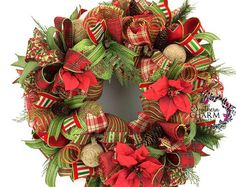 Christmas Elf Wreath Elf Butt Wreath Deco by SouthernCharmWreaths