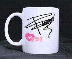 beyonce logo mug cup two side by CatchyThingz on Etsy, $15.99
