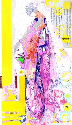 Sonya Suhariyan by AphroChic Fashion Illustration Sketches, Fashion Sketchbook, Illustration Art, Illustrations, Fashion Design Portfolio, Fashion Design Sketches, Sketch Fashion, Fashion Collage, Fashion Prints