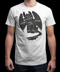"""""""How to Pet Your Dragon"""" is today's £8/€10/$12 tee for 24 hours only on www.Qwertee.com Pin this for a chance to win a FREE TEE this weekend. Follow us on pinterest.com/qwertee for a second! Thanks:)"""
