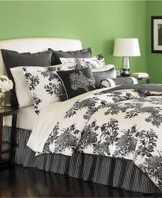 Loving the new Martha Stewart Collection bedding from Macy's. -Midnight Trellis-