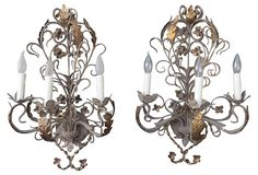 French Painted Sconces, Pair on OneKingsLane.com IN the right room-amazing 1940-1950
