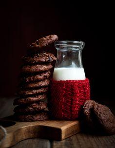 Salted Dark Chocolate Espresso Cookies | Desserts for Breakfast.