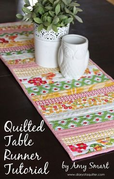 Diary of a Quilter - a quilt blog: Easy Quilted Table Runner