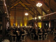 Beautiful amber lighting for warm reception!