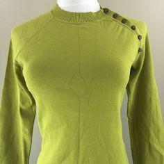 One Girl Who Anthropologie Green Sweater Women's Sz Medium | eBay