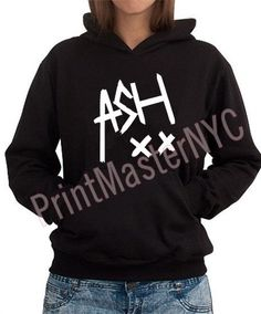Black Heavy Blend ASH Hoodie For WomenPrinted in by PrintMasterNYC