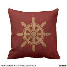 Nautical Helm Wheel Red