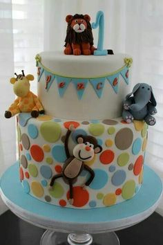 Great baby shower/birthday cake idea