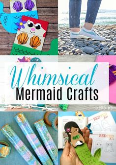 Whimsical Mermaid Crafts for kids, teens, and even adults. These easy diy ideas are the perfect decoration for your room. You could even show how to make them at a mermaid themed birthday party. Fun Projects For Kids, Crafts For Teens To Make, Cool Diy Projects, Craft Projects, Project Ideas, Mermaid Crafts, Mermaid Diy, Mermaid Theme Birthday, Birthday Party Themes