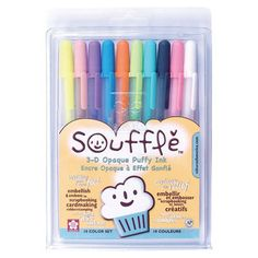 Gelly Roll Souffle pens. This are SO cool! They dry raised, like embossing and look awesome.