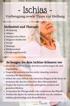 Der Ischias-Schmerz wird von den Betroffenen wie folgt beschrieben: Kaum erträgliche Kreuzschmerzen, die bis in die Beine ausstrahlen. Und das alles nur, weil Sie etwas Schweres gehoben haben! Erfahren Sie hier, wie Sie dem Ischias-Schmerz richtig vorbeugen. Lesen Sie zudem, wie Sie den Ischias richtig behandeln. Es gibt einige Heilmittel und Übungen, die die Rückenschmerzen schnell lindern können sowie Therapien und Behandlungsmöglichkeiten, die zur schnellen Heilung beitragen.
