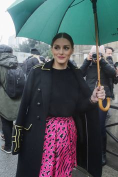 Olivia Palermo seen during Paris Fashion Week Womenswear Fall/Winter 2018/2019 on March 2 2018 in Paris France