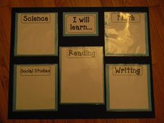 Great for posting your objectives each day (learning targets? Learning Targets, Learning Goals, Learning Objectives, Posting Objectives, Objectives Board, Daily Objectives, Displaying Objectives, Classroom Objectives, Visual Learning