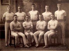 Such strong men! Karl Fredrik Albert Thommessen and the rest of the gymnastic team taken in 1918. http://www.ancientfaces.com/photo/karl-fredrik-albert-thommessen/1292765