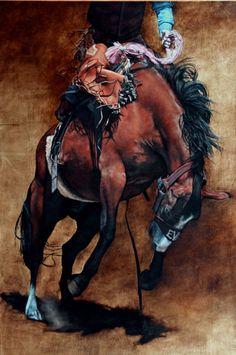 Beautiful horse painting by Anne Marie Kornachuk Art Work