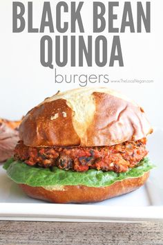 These black bean burgers and smokey and full of flavor. Enjoy them on the bun, or on a bed of lettuce! A quick note, they don't hold up well with fresh cooked quinoa, so prepare the quinoa the day before and store it in the fridge until your ready to prepare the burgers. Black Bean Quinoa Burgers * 1 (160z) can of black beans, rinsed, drained and patted dry * 4-5 mini sweet peppers, or 1/2 red bell pepper, roughly chopped * 1/2 small sweet onion, roughly chopped * 2 cloves of garlic * 1 tbsp…
