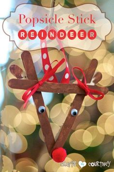 Kids Christmas Craft: Popsicle Reindeer: 4 Easy-to Make DIY Kid Christmas Ornaments