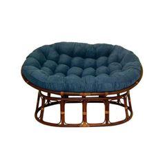 Folding Chair Papasan Blue Style